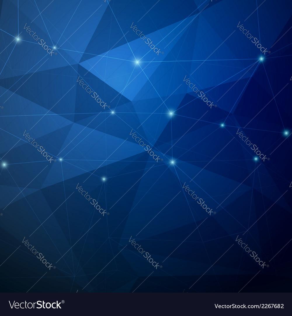 Crystal structure dark modernistic background vector