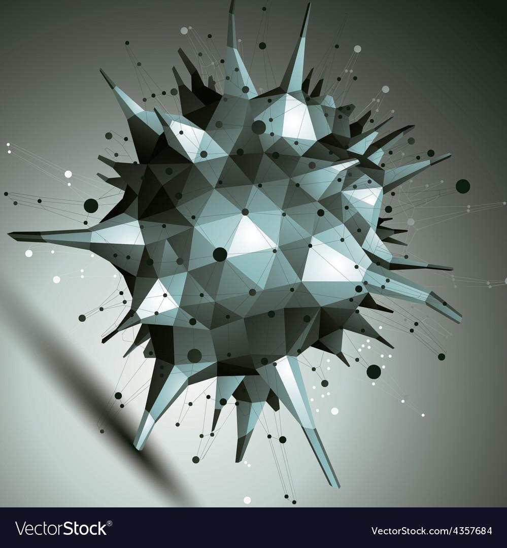 Digital 3d abstraction lattice geometric polygonal vector