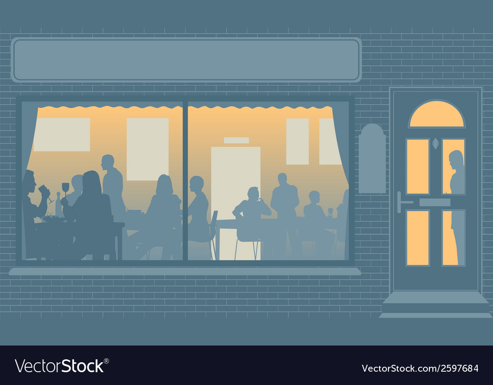 Restaurant window vector