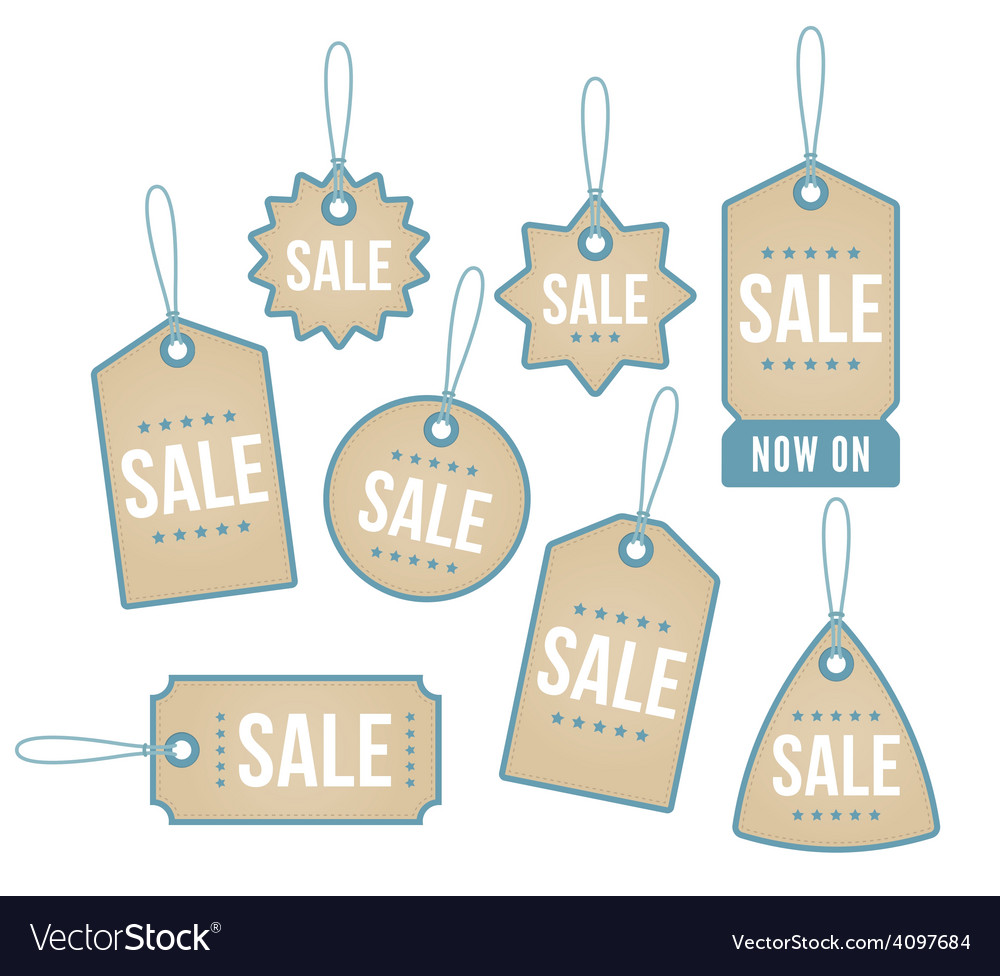 Retail price labels vector