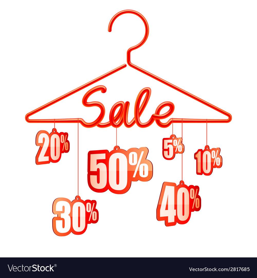 Sale hanger vector