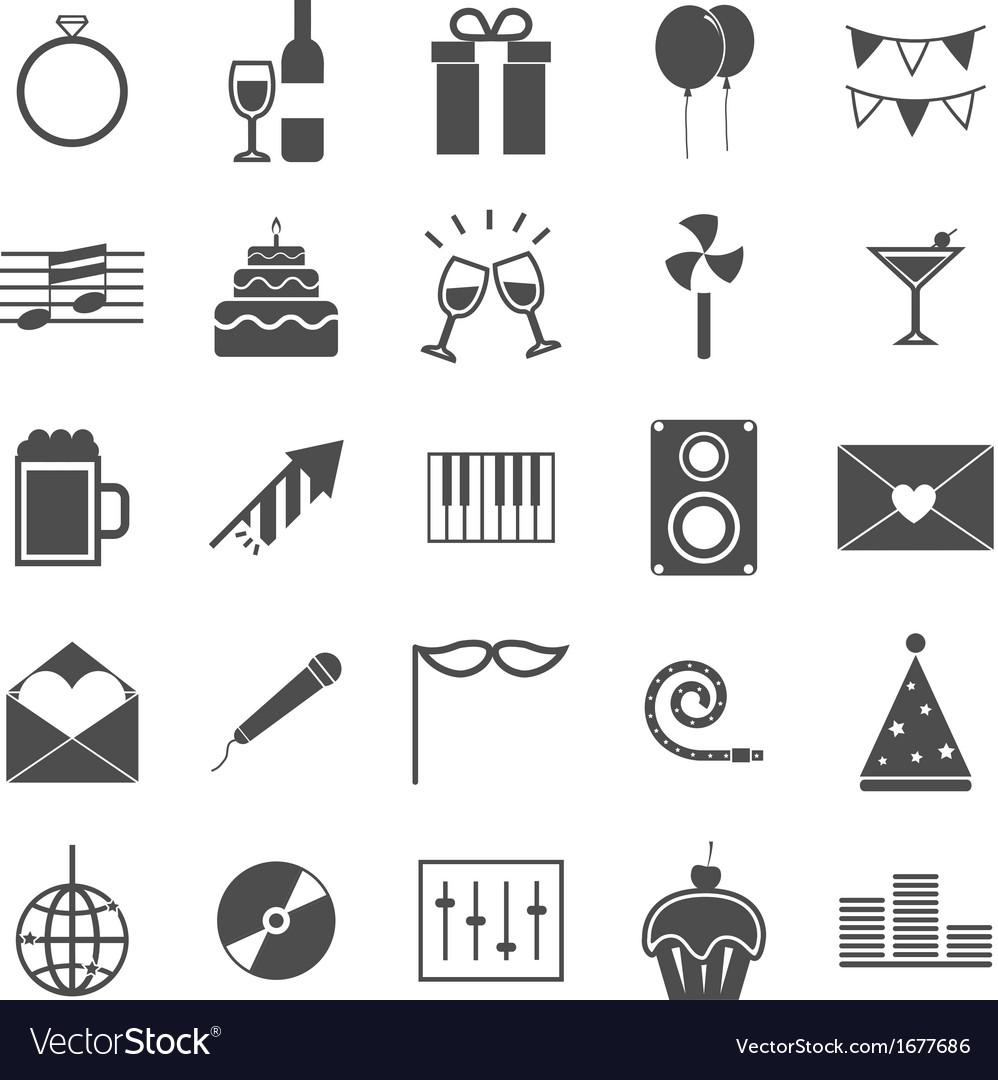 Celebration icons on white background vector