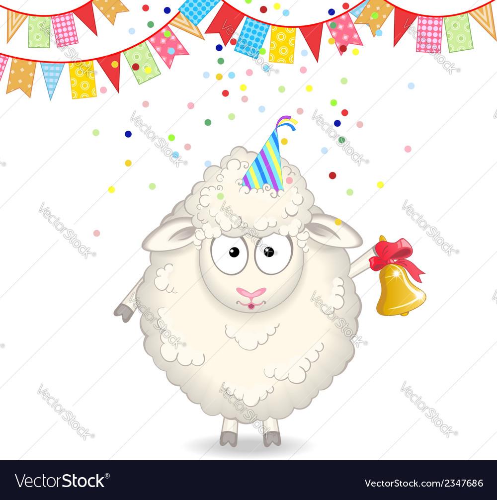 Funny sheep vector