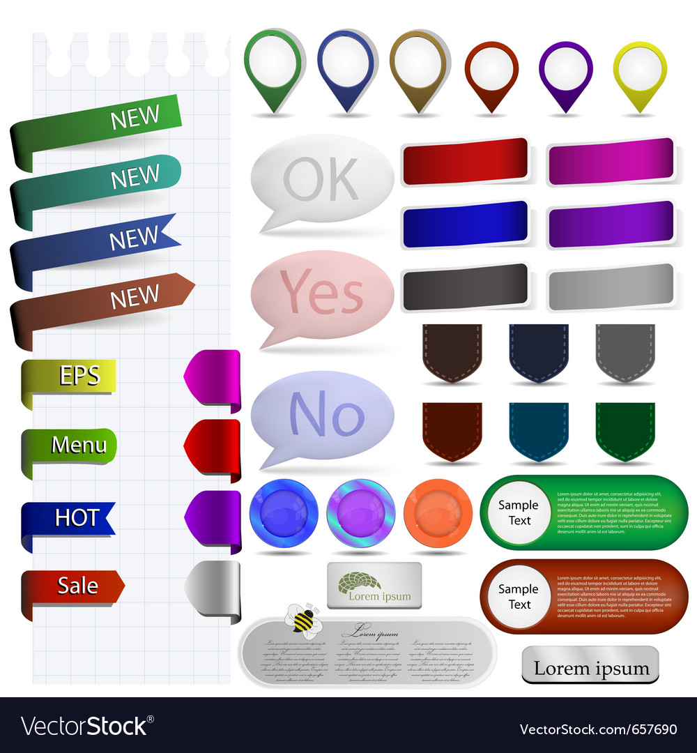 Sticker and bubble for your design vector
