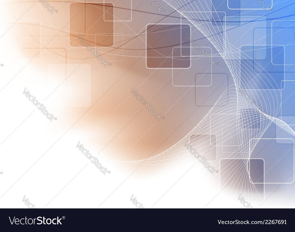Modern abstract blue orange shine background vector