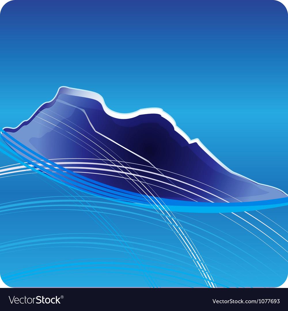 Blue mountains logo design vector