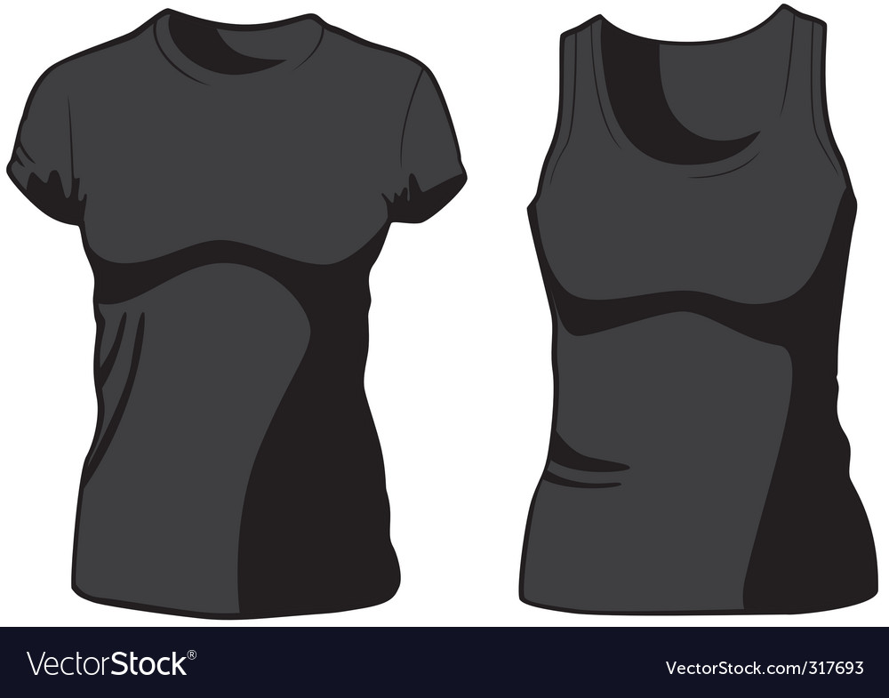 Womans casual wear vector