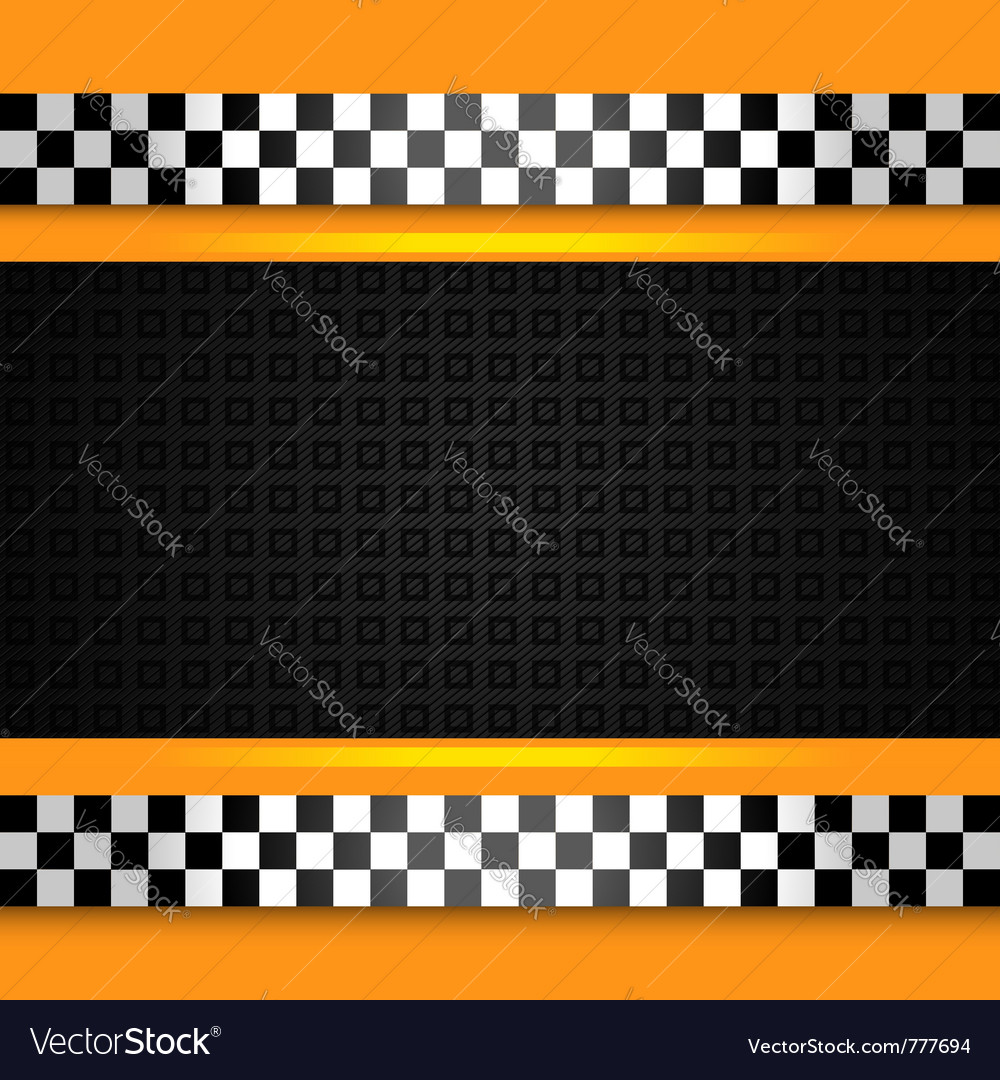 Taxi cab pattern vector