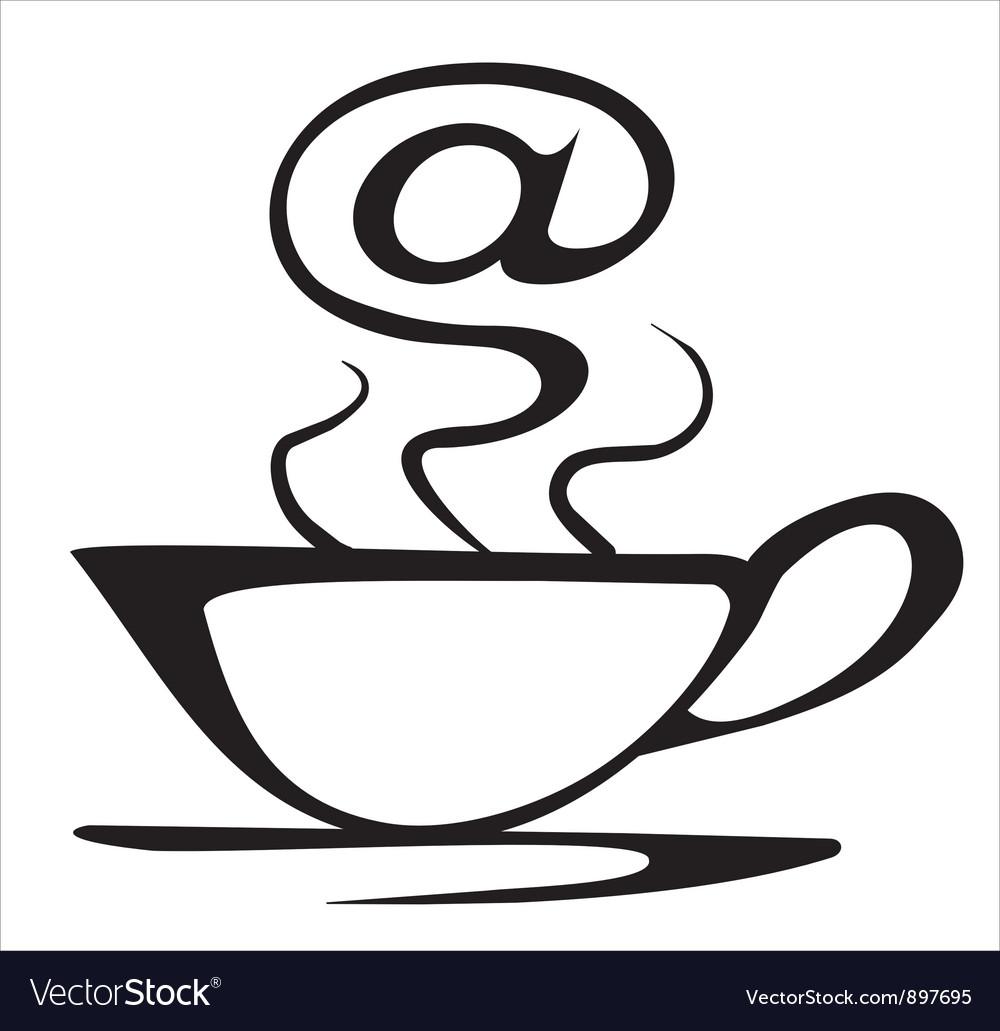 Internet cafe symbol vector