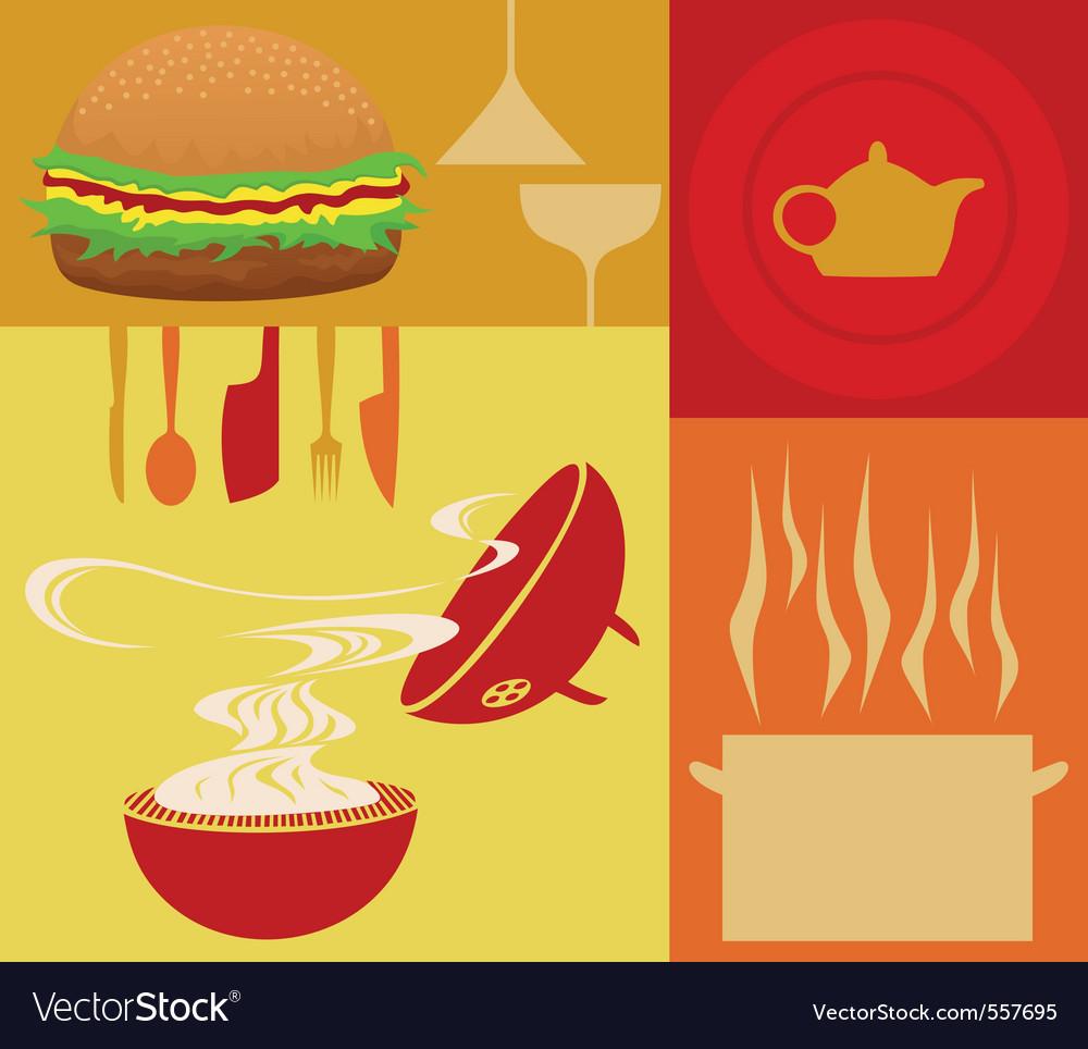 Restaurant meal vector
