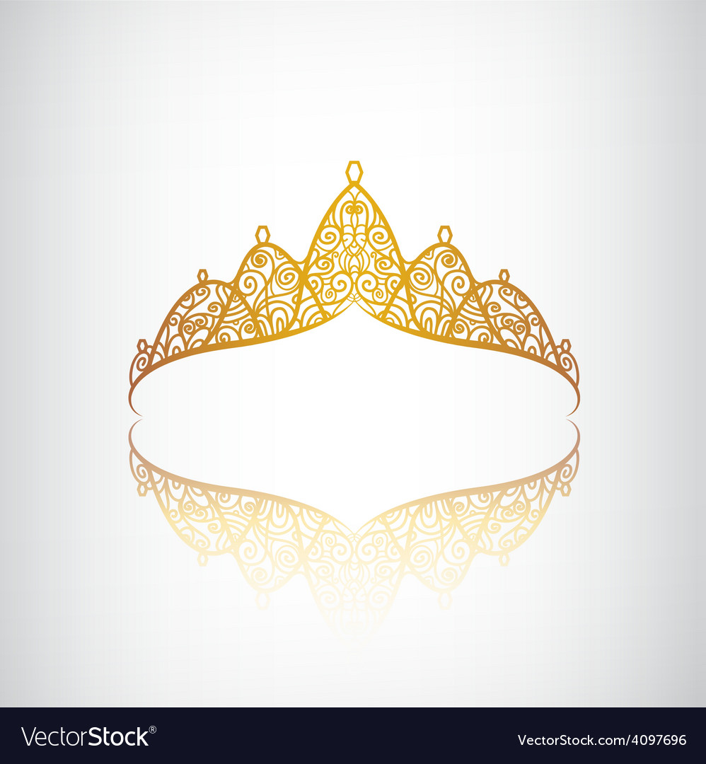 Vintage elegant decorated with star crown vector