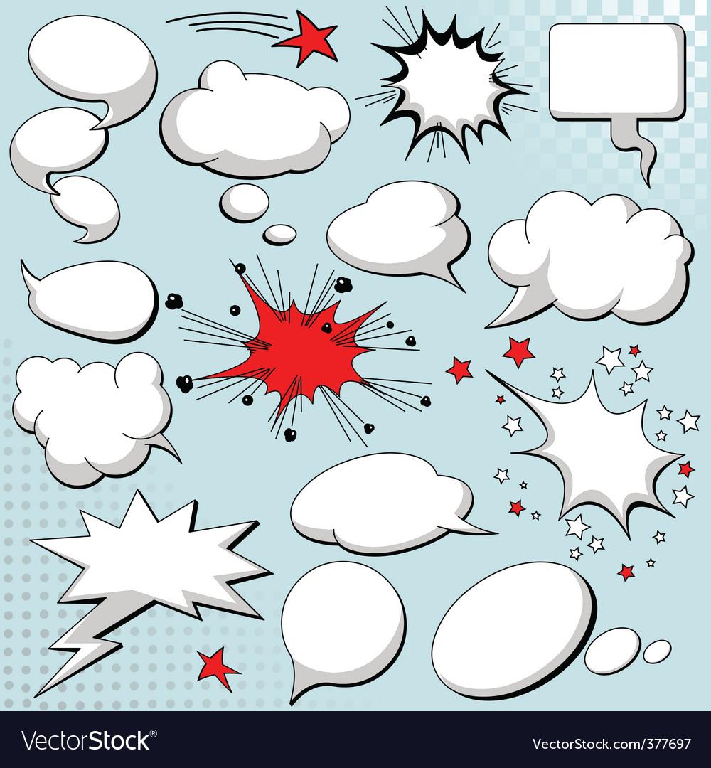 Comics style speech bubbles vector