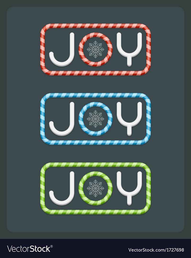Christmas joy postcard with deer background vector