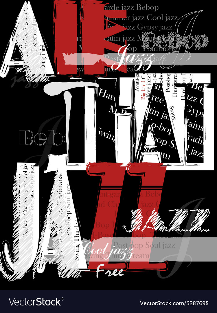 Vintage jazz poster background vector