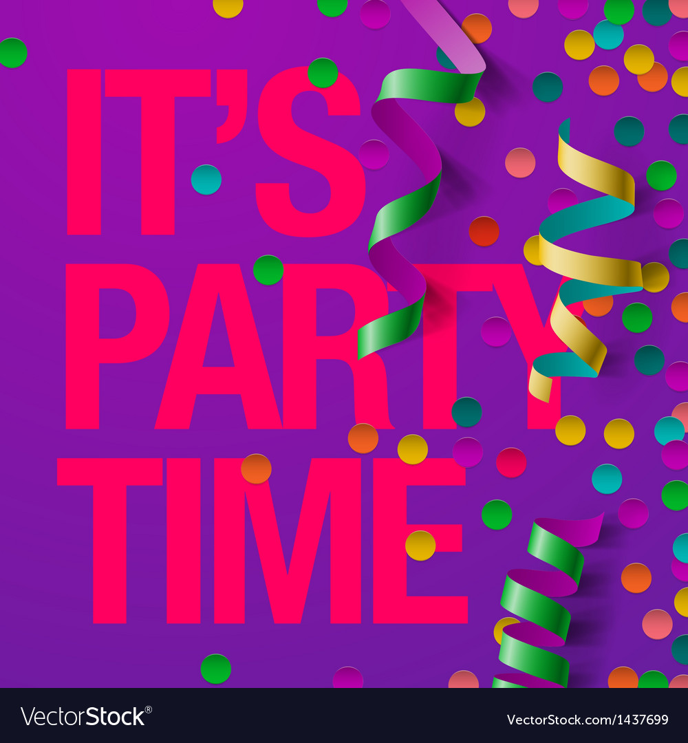 Party design template with streamers vector