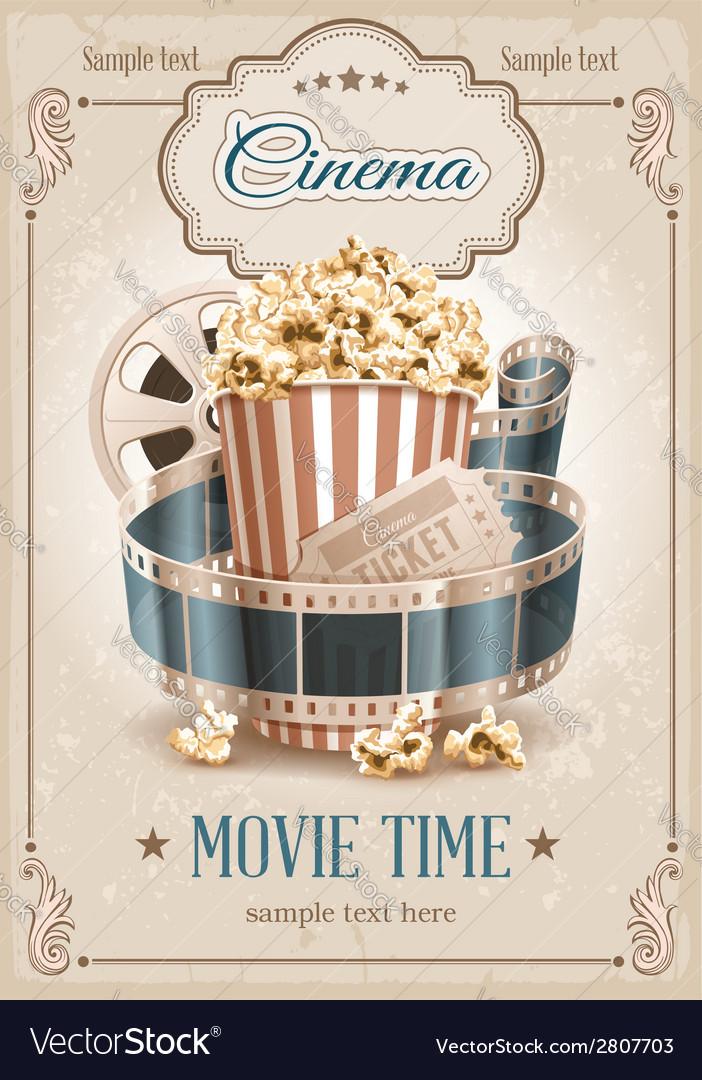 Cinema background vector