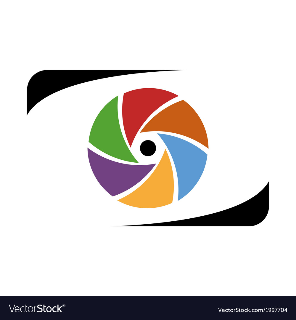 Abstract photographer logo work vector