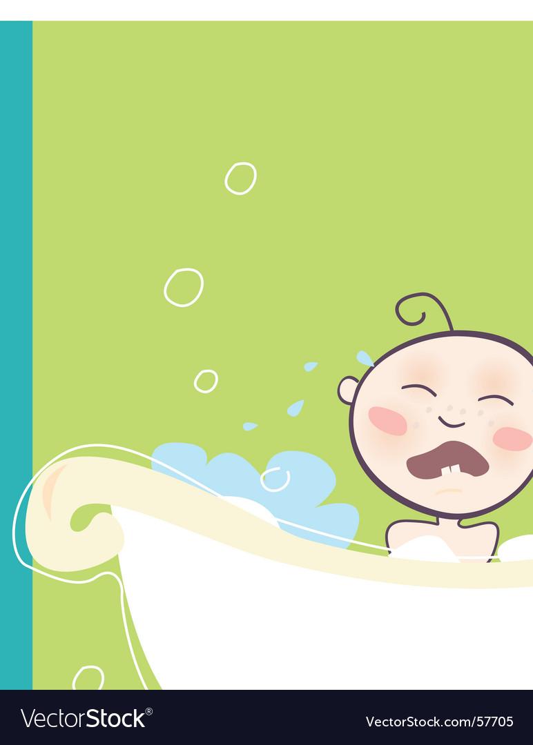 Baby bath vector
