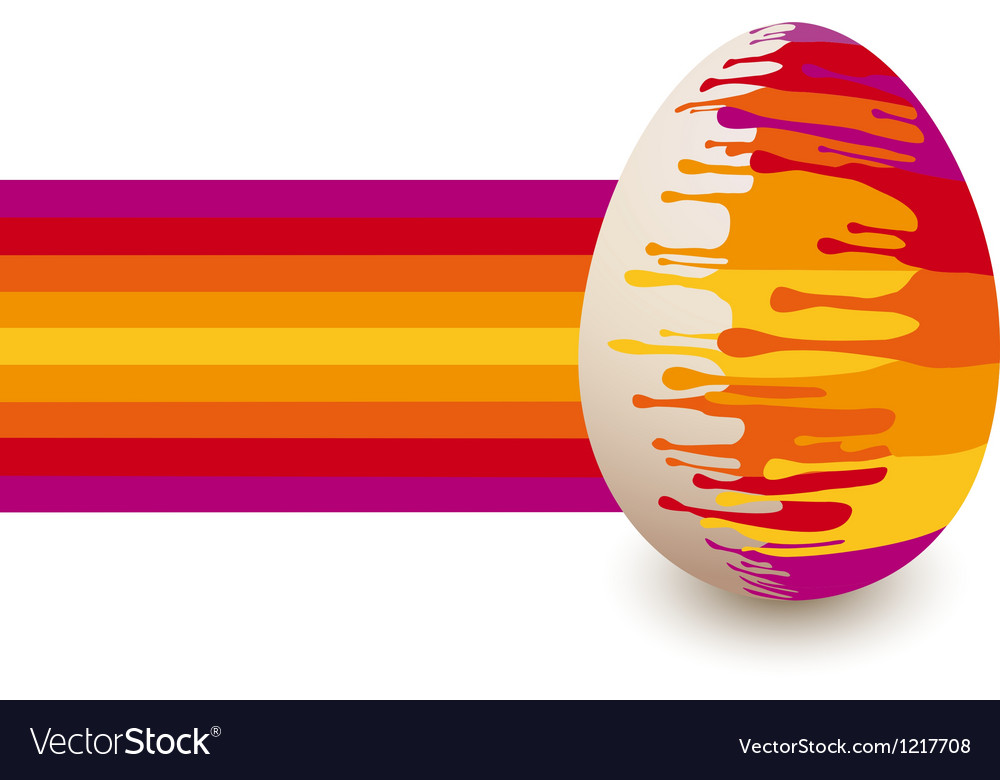 Abstract colorful easter egg vector