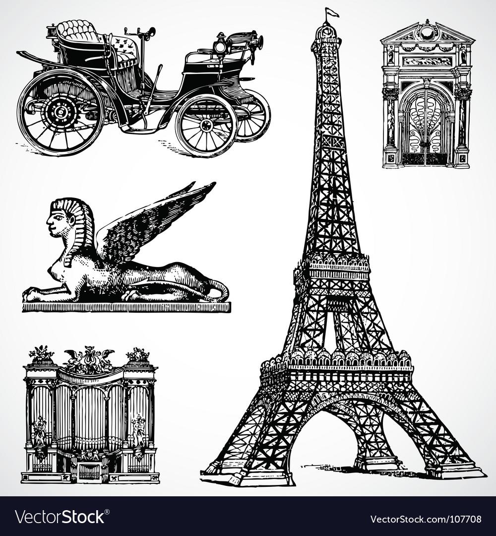 Retro historical graphics vector