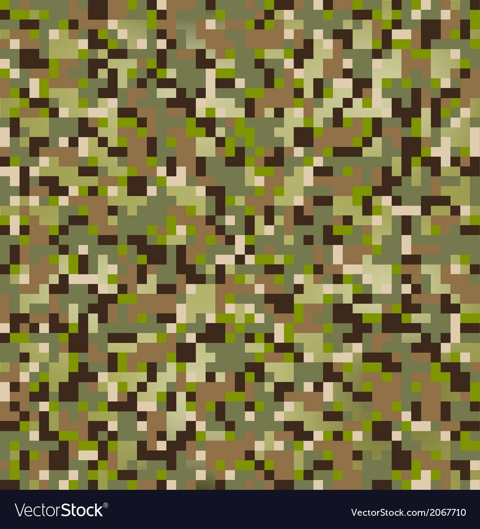 Camo pixel vector