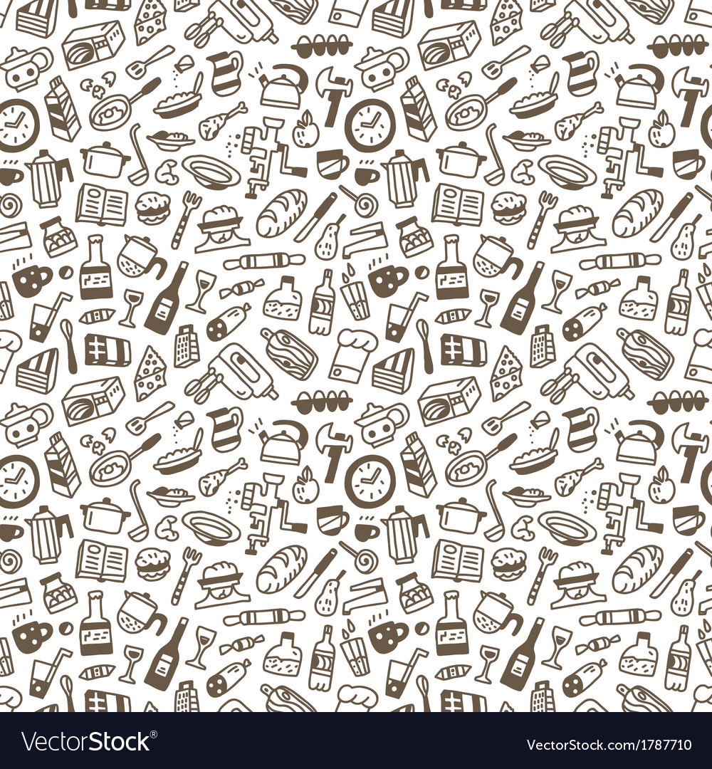 Food - seamless background vector