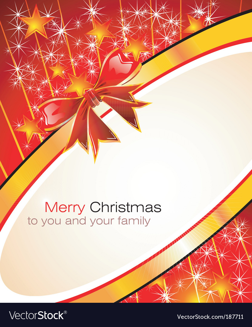 Christmas greetings card vector
