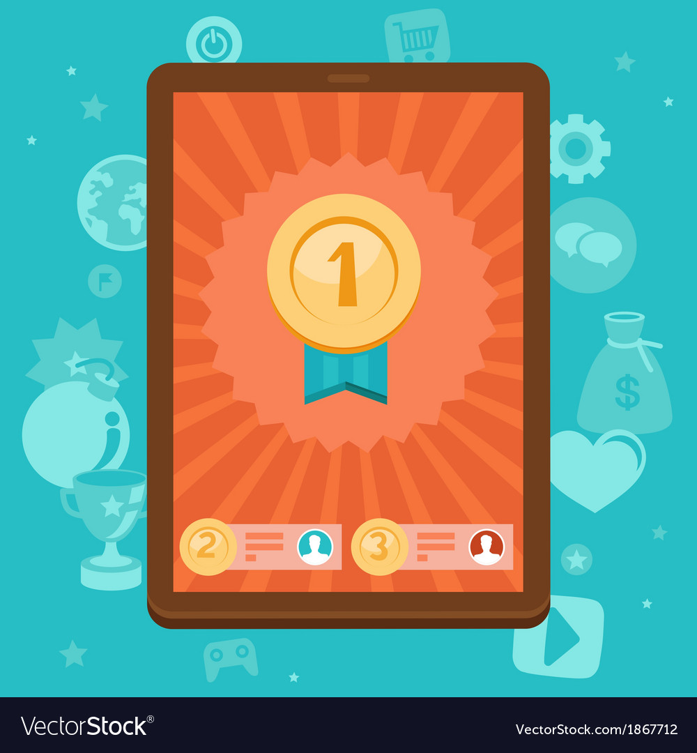 Mobile game app vector