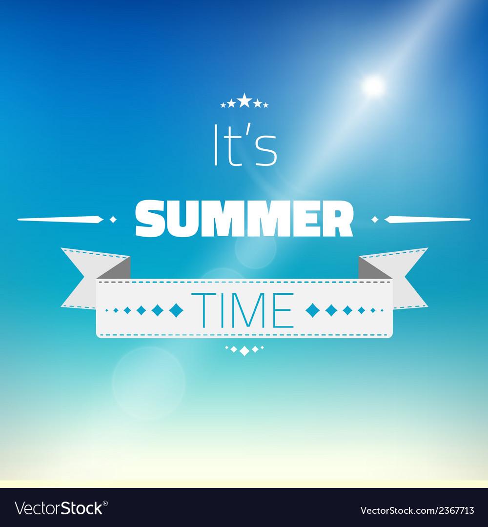 Hot summer sun background vector