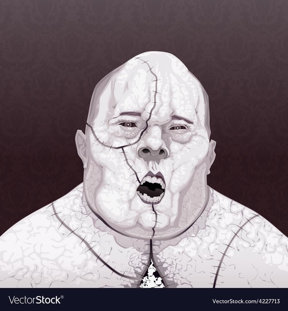 Zombie portrait vector