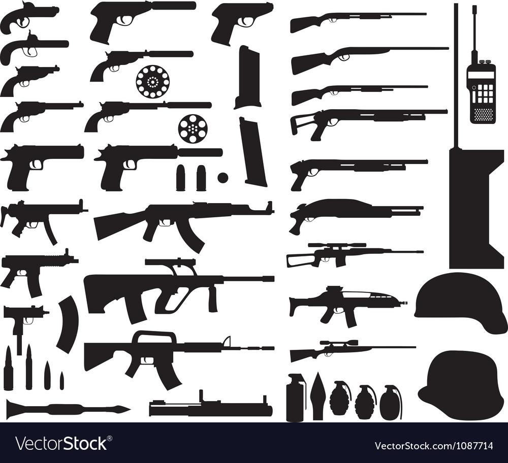 Army armament vector