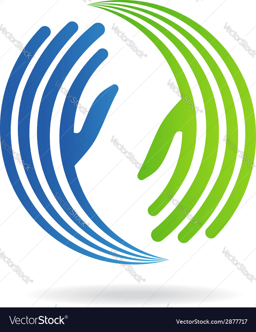 Hands pact image logo vector