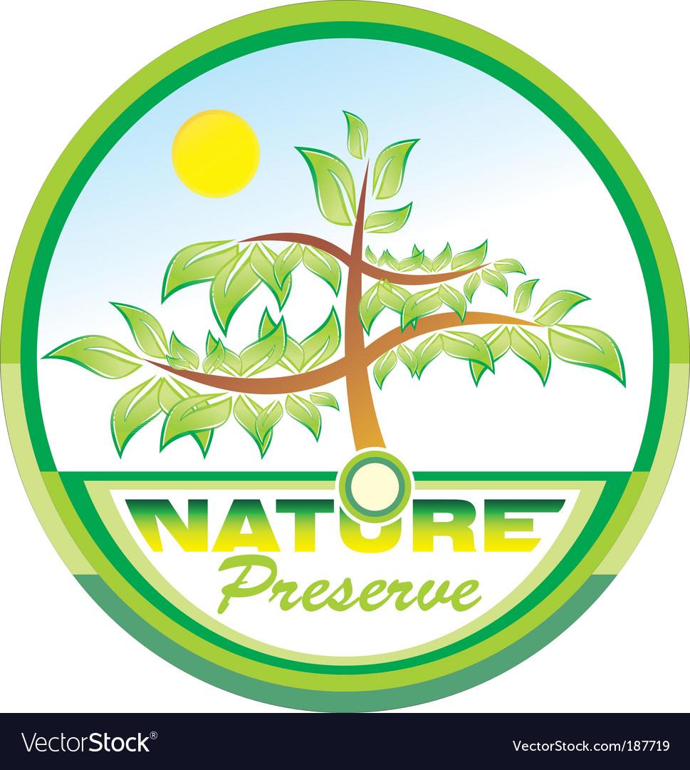 Preserve nature tree emblem vector