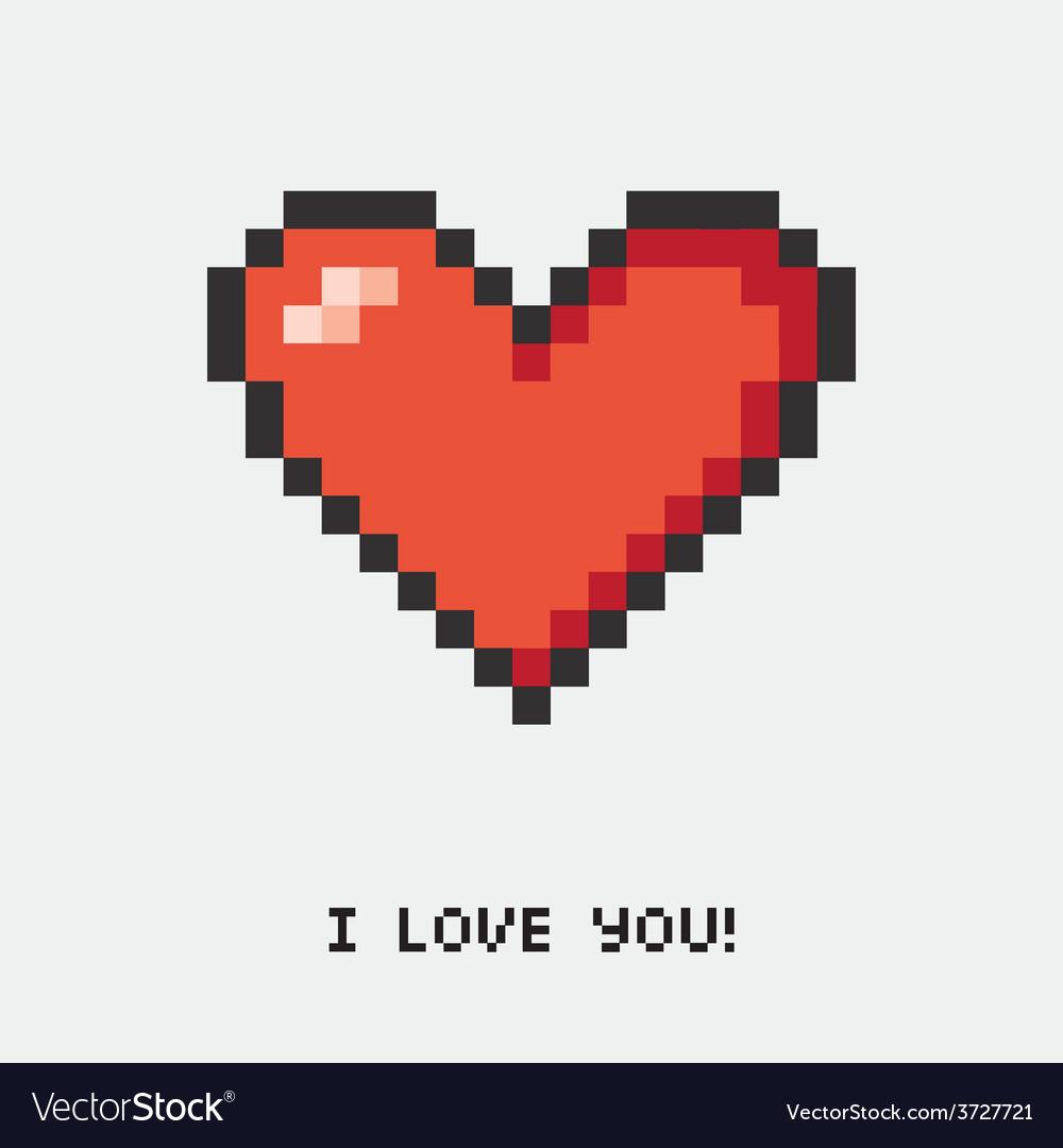 A pixel heart vector
