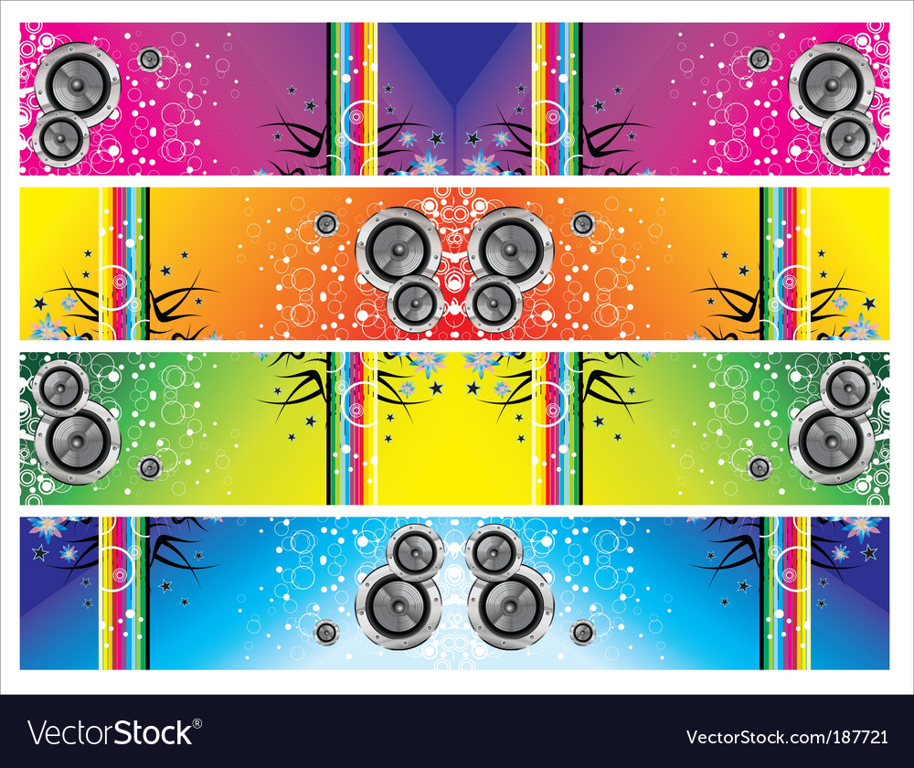 Grunge music banners vector