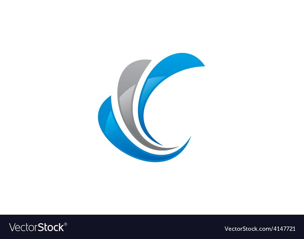 Swirl finance business logo vector