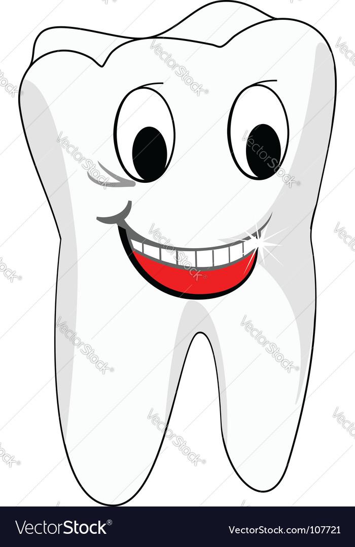 White teeth vector