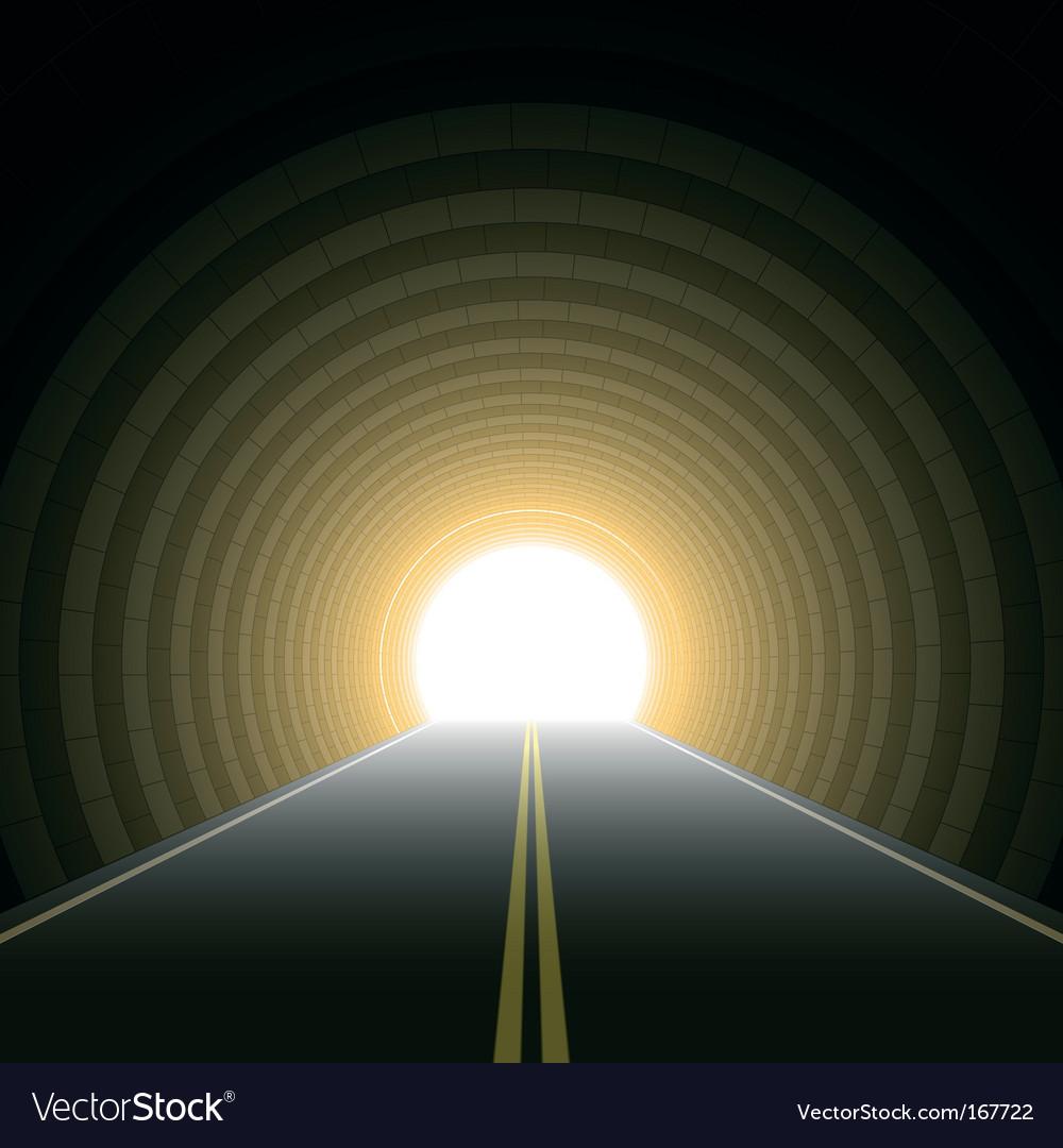 Car tunnel vector