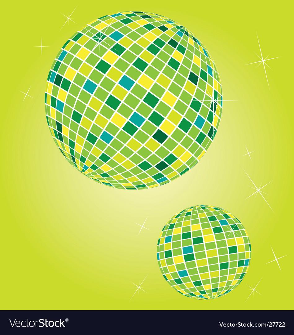 Shiny disco balls vector