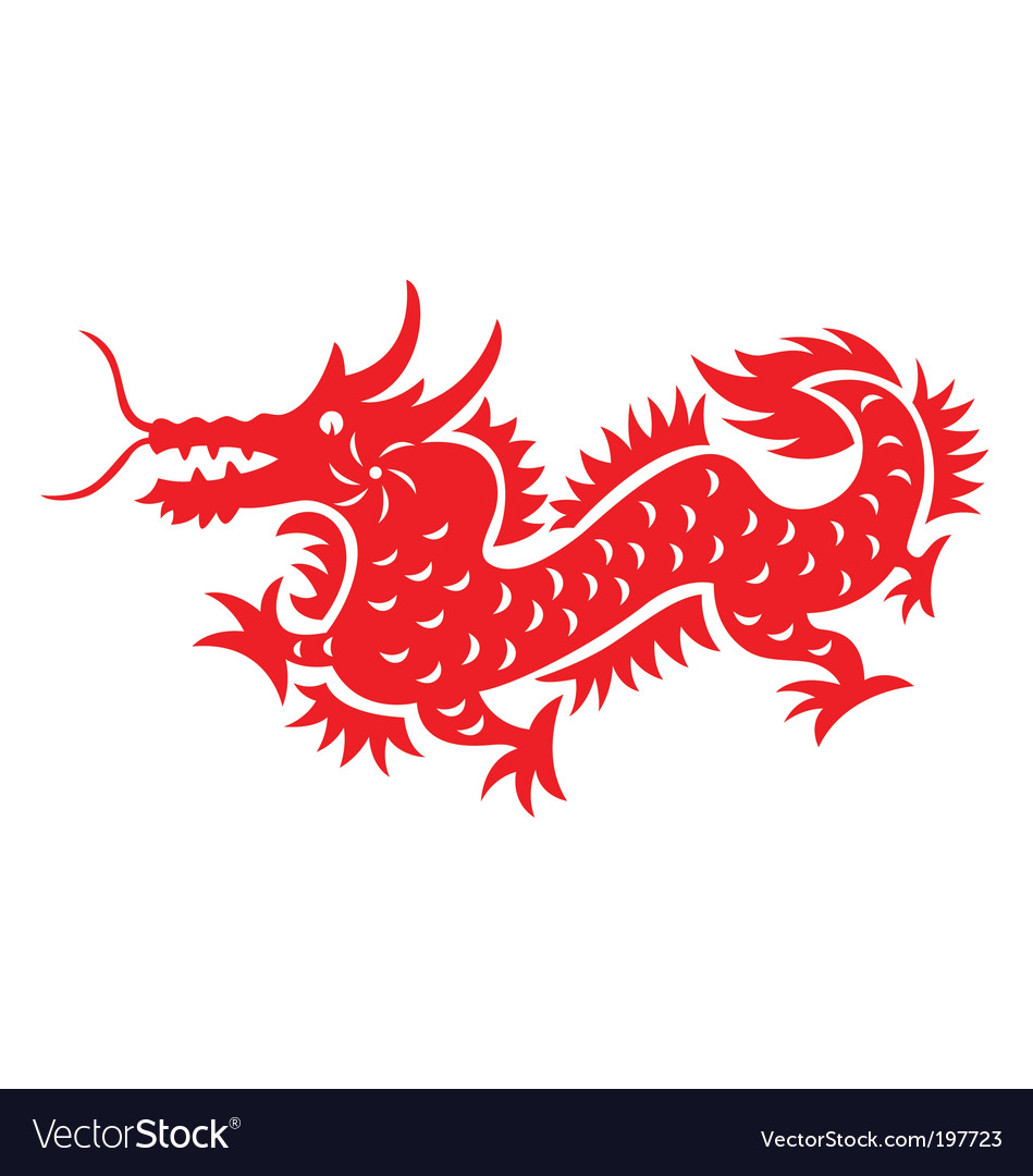 Chinese astrology dragon vector