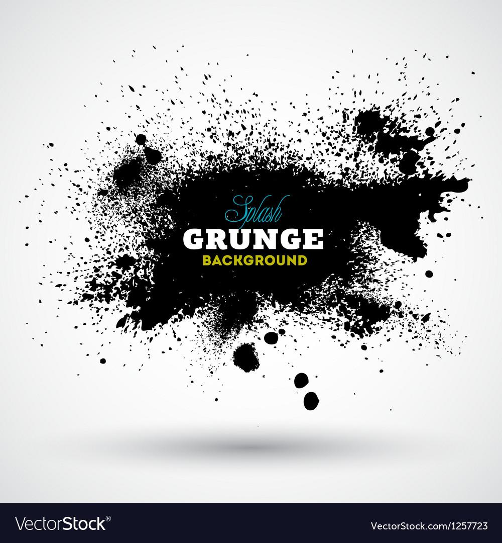 Grunge splash banner vector