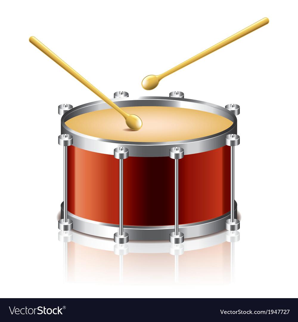 Object drum drumsticks vector