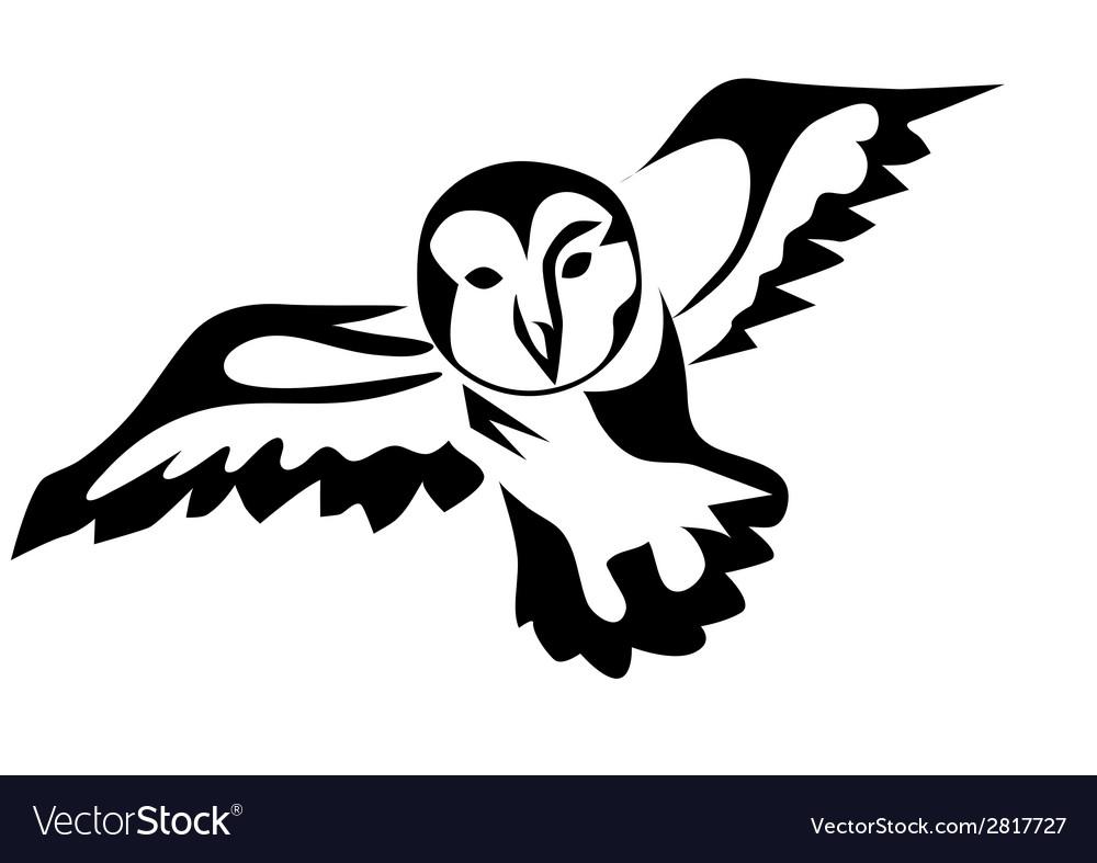 Peacock owl vector