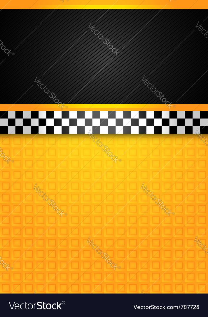 Taxi cab - blank template vector