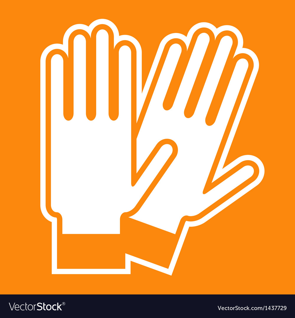 Gloves sign vector
