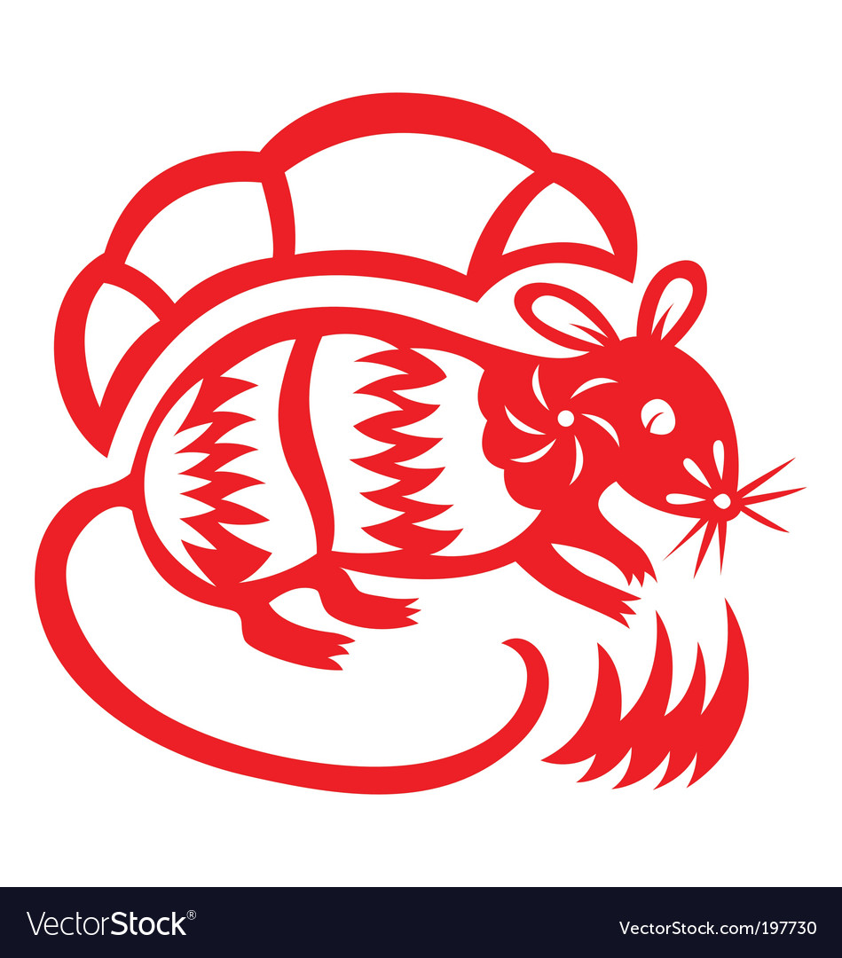 Chinese astrology rat vector