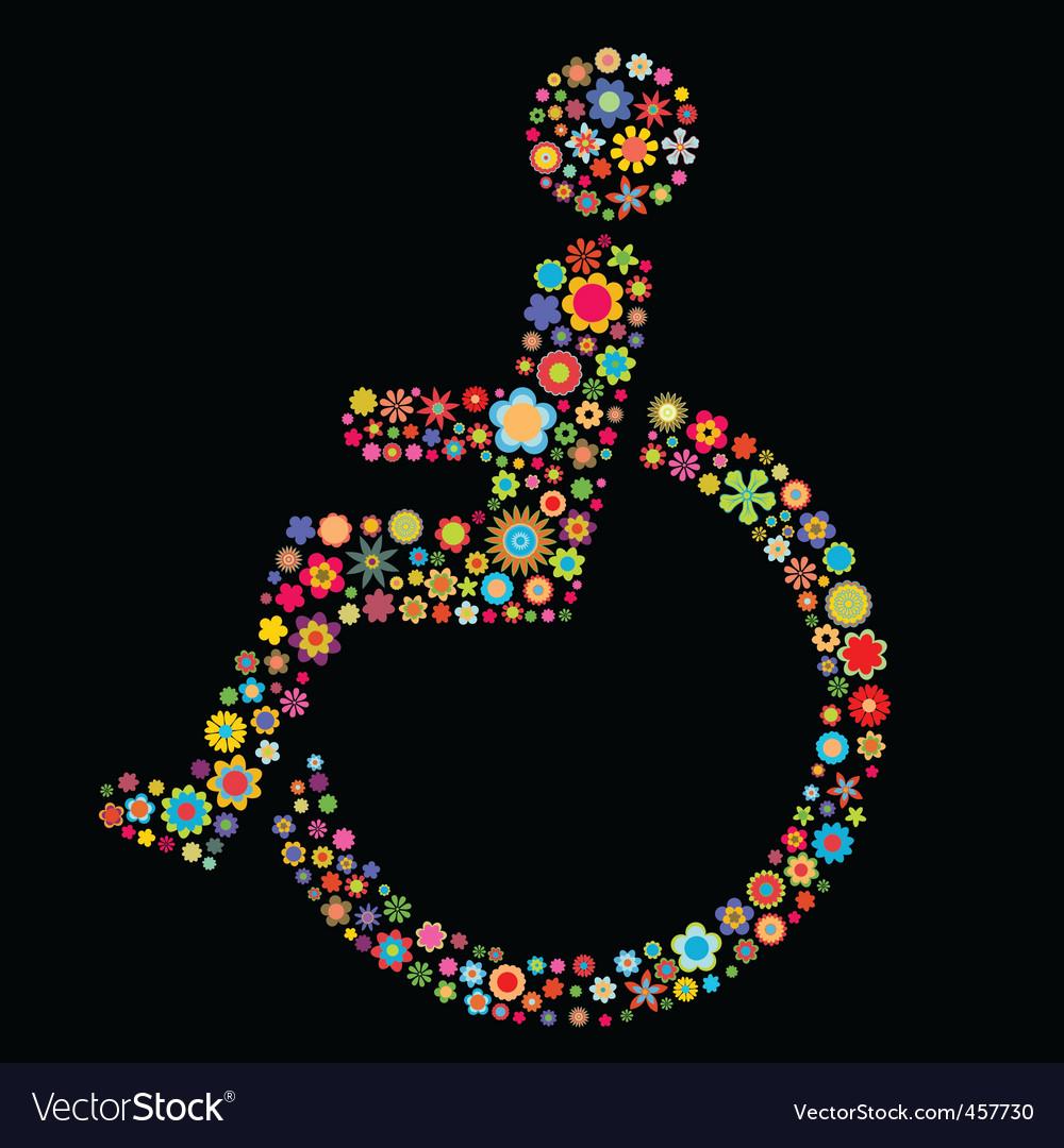 Handicap sign vector