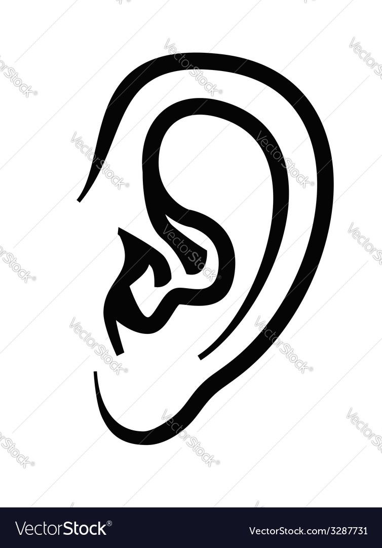 Ear icon vector