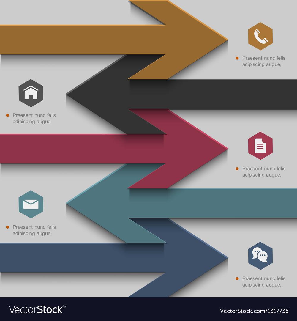 Trendy banner arrow design for website templates vector