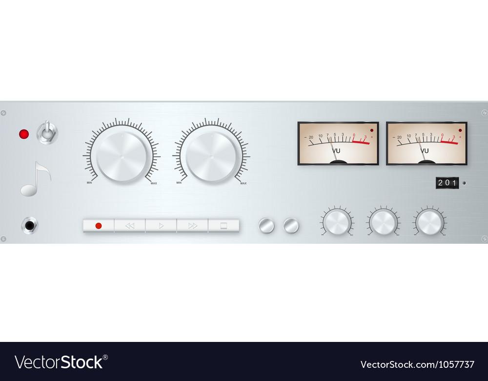 Analog audio device panel vector